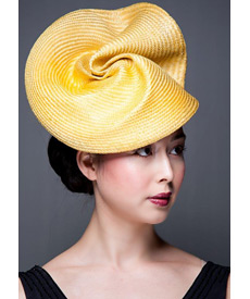 Fashion hat Baton Rouge, a design by Melbourne milliner Louise Macdonald