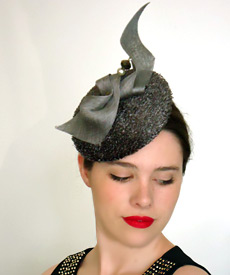 Transeasonal fashion hat designed exclusively for Hugo Boss by Melbourne milliner Louise Macdonald