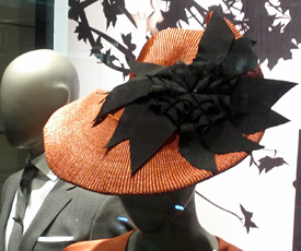 Fashion hats by Melbourne milliner Louise Macdonald were available from Hugo Boss Sydney and Bondi Junction prior to the 2013 Sydney Autumn Racing Carnival
