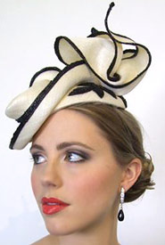 Boss Woman fashion collection inspired directional hats by Melbourne milliner Louise Macdonald