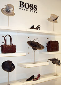 Fashion hats by Melbourne milliner Louise Macdonald were sold at Hugo Boss Collins Street in 2008
