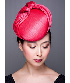 Fashion hat Pink Talahatchie, a design by Melbourne milliner Louise Macdonald