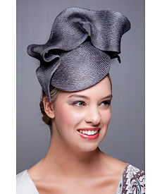 Fashion hat Gunmetal Tunica Beret, a design by Melbourne milliner Louise Macdonald