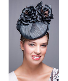 Fashion hat Tupelo Rose, a design by Melbourne milliner Louise Macdonald