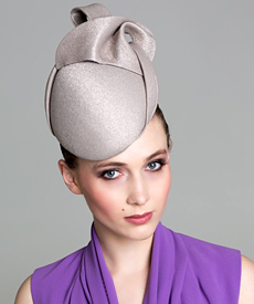 Fashion hat Oyster 'Josephine' Headpiece, a design by Melbourne milliner Louise Macdonald
