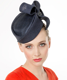 Fashion hat Navy Lauren, a design by Melbourne milliner Louise Macdonald