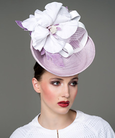 Fashion hat Lilac Margeaux, a design by Melbourne milliner Louise Macdonald