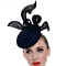 Louise Macdonald Milliner's 2015 collection for Hugo Boss Melbourne - Fashion hat Praslin Headpiece in Royal and Black