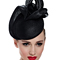 Louise Macdonald Milliner's 2015 collection for Hugo Boss Melbourne - Fashion hat Black Tina Beret