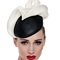 Louise Macdonald Milliner's 2015 collection for Hugo Boss Melbourne - Fashion hat Black and Ivory Tina Beret