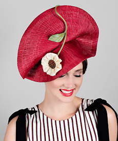 Fashion hat Mars, a design by Melbourne milliner Louise Macdonald