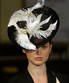 Fashion hat Barbarella, designed by milliner Louise Macdonald, at the Melbourne Spring Fashion Week Millinery Parade 2007