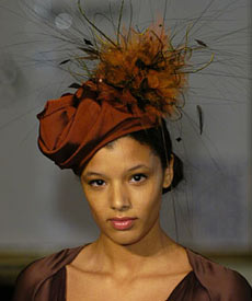Fashion hat Jeannie Turban, designed by milliner Louise Macdonald, at the Melbourne Spring Fashion Week Millinery Parade 2007