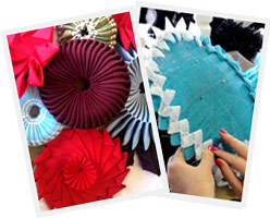 photos taken during millinery courses at Louise Macdonald's studio in Melbourne