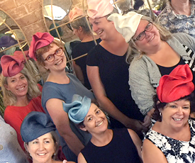 Louise Macdonald's workshop brought together millinery students in Sydney