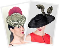 Fashion hats designed by Melbourne milliner Louise Macdonald