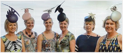 Millinery students at Louise Macdonald's studio in Melbourne