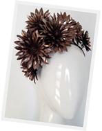 Millinery floral crown