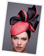 Millinery sculpted sinamay