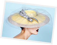 Sinamay Brim Extensions headpiece