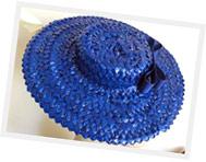 Straw braid hat