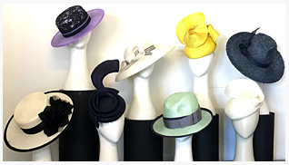 Fashion hats created by millinery students at Louise Macdonald's studio in Melbourne