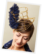 Fashion hat designed by Melbourne milliner Lauren Ritchie