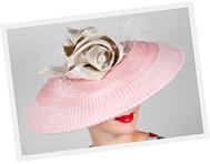 Dior Brims from Buntal Mats headpiece