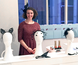 Lauren Ritchie preparing to teach the birdcage veil course at Louise Macdonald's studio in Melbourne