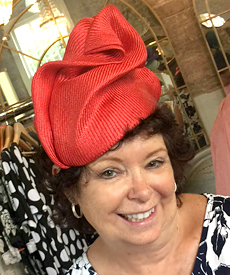 Millinery students learnt Louise Macdonald's signature techniques in Sydney