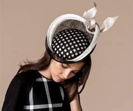 Fashion hat Angelique by Melbourne milliner Louise Macdonald