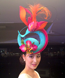 previous This spectacular fashion hat by Louise Macdonald Milliner can be  yours! Simply follow the designer next 227d1df9dcf