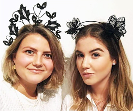 Fantastic creations, including beautiful lace crowns, were made by those attending the Melbourne Spring Fashion Week workshops, under the direction of tutor Lauren Ritchie